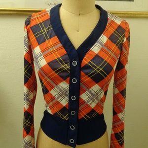 Vintage Plaid Button Down Shirt Top